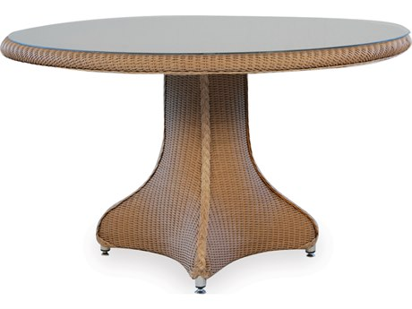 Lloyd Flanders Dining & Accessory Wicker  48''Wide Round Glass Dining Table