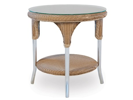 Lloyd Flanders Dining & Accessory Wicker 24''Wide Round End Table PatioLiving