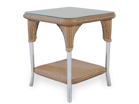 Lloyd Flanders Wicker 22 Square End Table