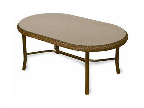 Lloyd Flanders Weekend Retreat Wicker 42.5'' x 25.5'' Oval Coffee Table