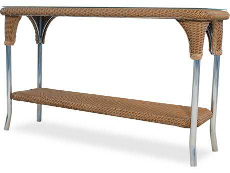 Lloyd Flanders Wicker 52 x 19.5 Rectangular Console Table