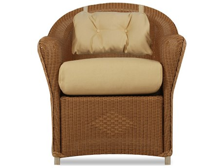 Lloyd Flanders Reflections Wicker Dining Chair With Back Pad