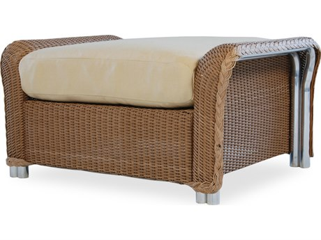 Lloyd Flanders Reflections Wicker Small Ottoman