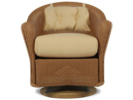 Lloyd Flanders Reflections Swivel Dining Chair with Self Welt Back Pad