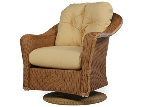 Lloyd Flanders Reflections Wicker Swivel Rocker Lounge Chair PatioLiving
