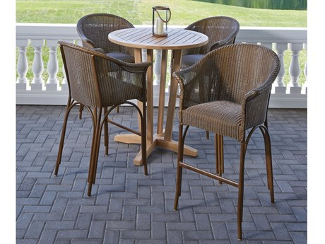Lloyd Flanders All Seasons Wicker Bar Set
