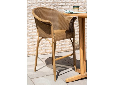 Lloyd Flanders All Seasons Wicker Bar Set with Padded Seat