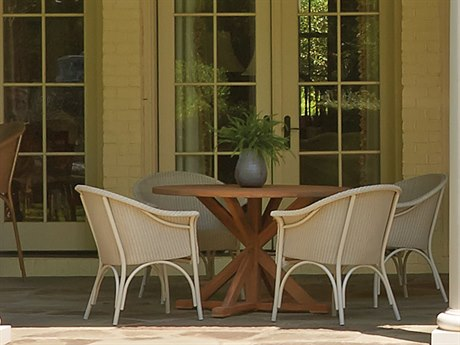 Lloyd Flanders All Seasons Wicker Dining Set