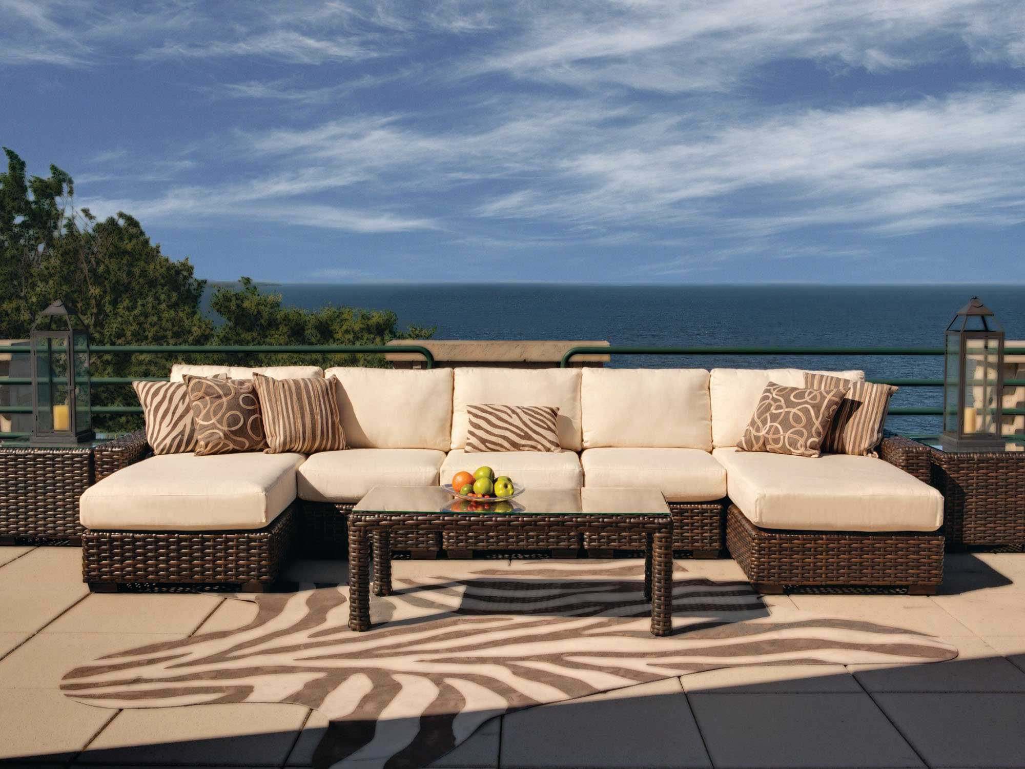 Lloyd flanders contempo wicker side lounge chair 38053 - Contempo wicker outdoor furniture ...