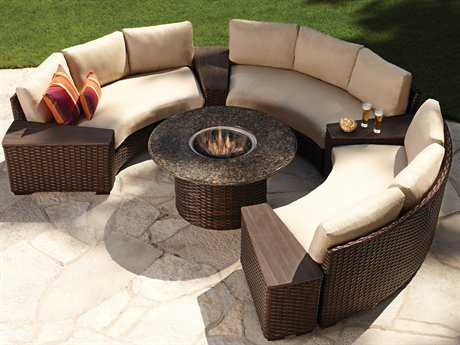 Lloyd Flanders Contempo Wicker Fire Pit Lounge Set