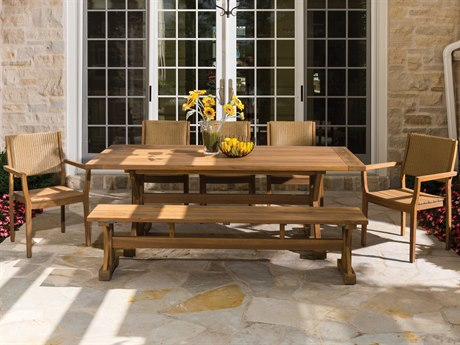 Lloyd Flanders Dining & Accessories Teak Dining Set