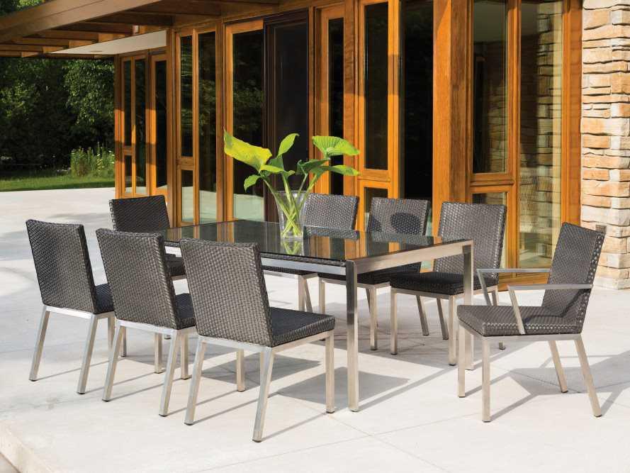 Lloyd Flanders Elements Steel Wicker Side Dining Chair