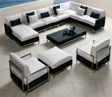 Elements Steel Wicker Lounge Set