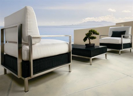 Lloyd Flanders Elements Steel Wicker Lounge Set
