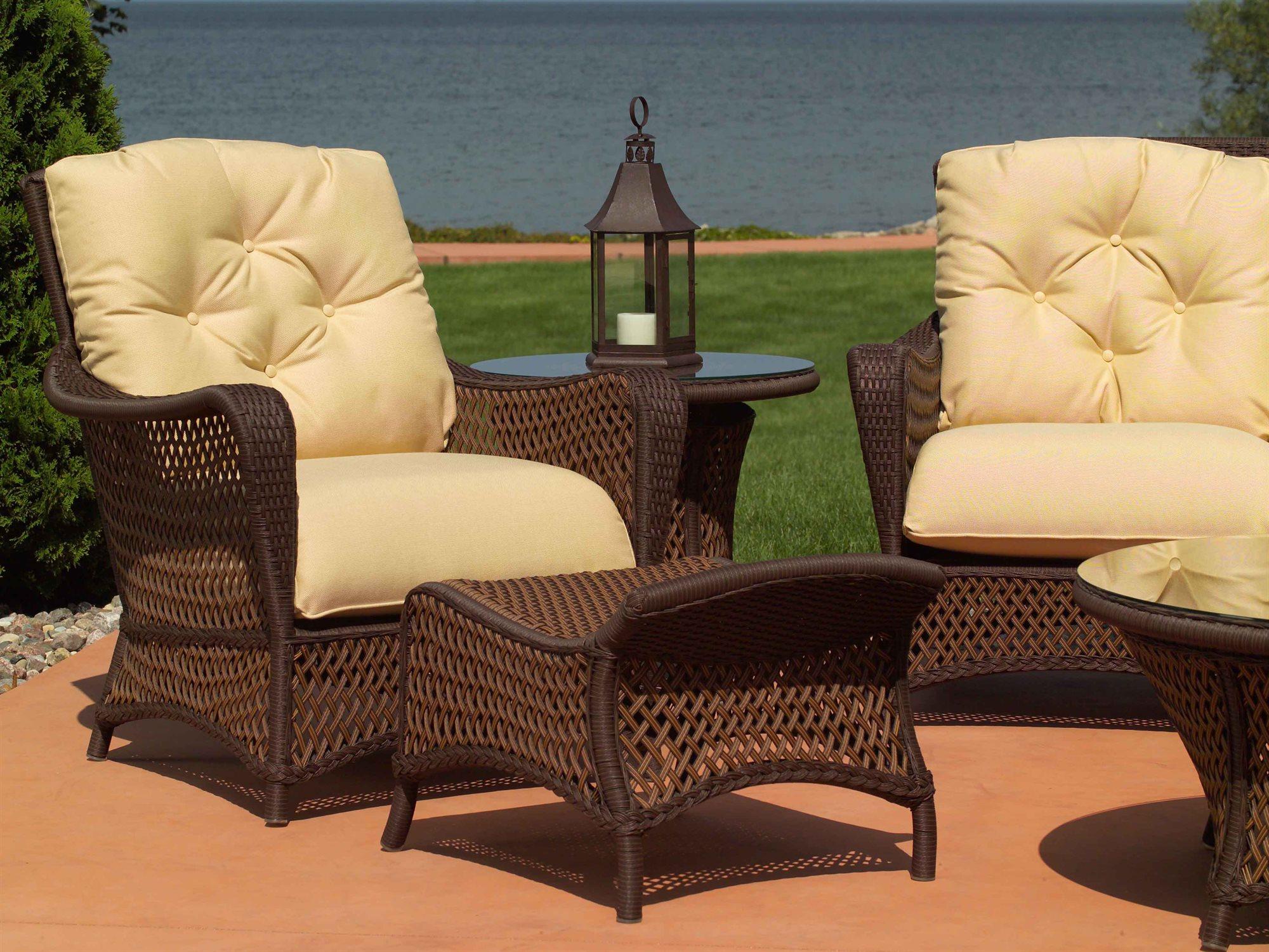 Lloyd Flanders Grand Traverse Wicker Lounge Chair 71302
