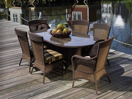 Lloyd Flanders Grand Traverse Wicker Dining Set