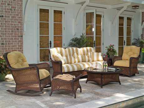 Lloyd Flanders Grand Traverse Wicker Lounge Set LFGRTLS
