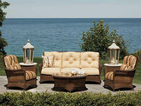 Lloyd Flanders Grand Traverse Wicker Lounge Set LFGRTWR