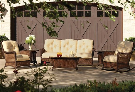 Lloyd Flanders Grand Traverse Wicker Lounge Set LFGTLG2