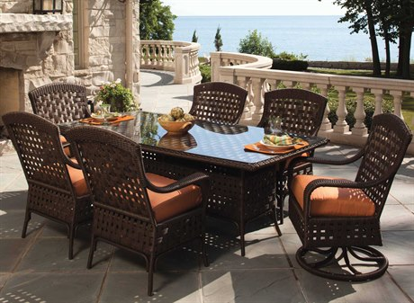 Lloyd Flanders Haven Wicker Dining Set