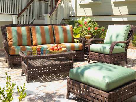 Lloyd Flanders Haven Wicker Lounge Set