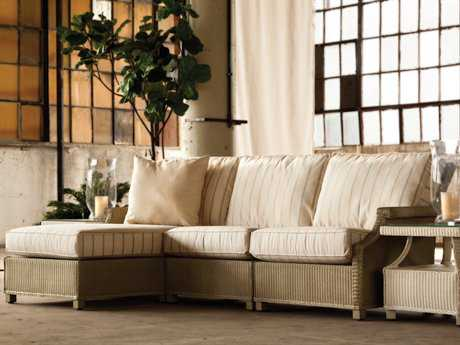 Lloyd Flanders Hamptons Wicker Sectional Set