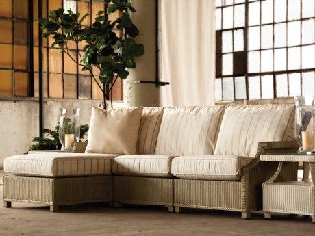 Lloyd Flanders Hamptons Wicker Sectional Lounge Set