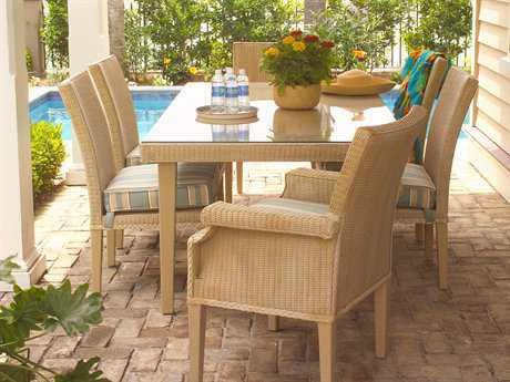 Lloyd Flanders Hamptons Wicker Dining Set