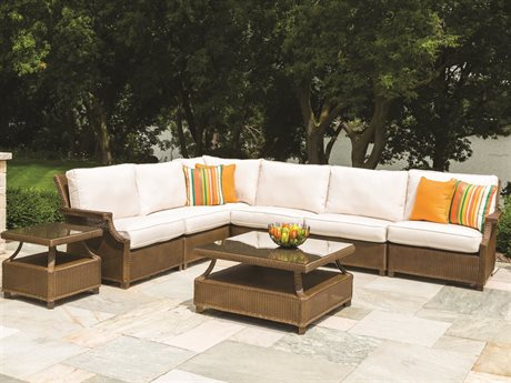 Lloyd Flanders Hamptons Wicker Sectional Lounge Set