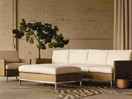 Lloyd Flanders Elements Steel Wicker Conversation Lounge Set