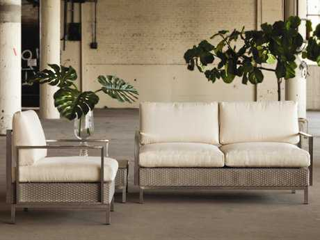 Lloyd Flanders Elements Steel Wicker Lounge Set LFLFELELSF
