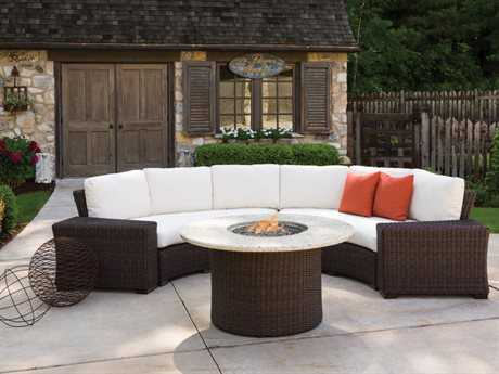 Lloyd Flanders Mesa Wicker Sectional Fire Pit Lounge Set
