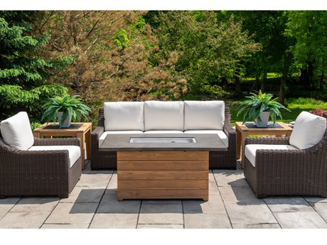 Lloyd Flanders Mesa Wicker Firepit Lounge Set
