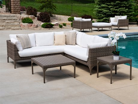 Lloyd Flanders Martinique Wicker Sectional Lounge Set