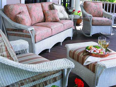 Lloyd Flanders Nantucket Wicker Lounge Set LFNANLS