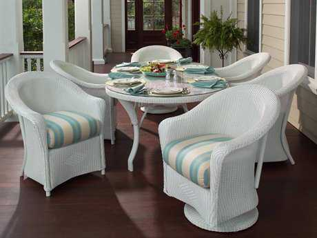 Lloyd Flanders Reflections Wicker Dining Set