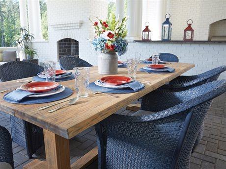 Lloyd Flanders Weekend Retreat Wicker Dining Set