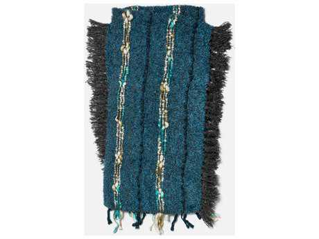 Loloi Rugs Aida 4'2 x 5' Blue Throw (Sold in 4)