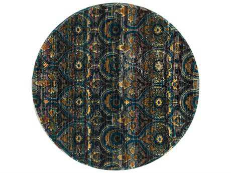 Loloi Rugs Aria HAR01 3'0'' Round Grey / Blue Area Rug