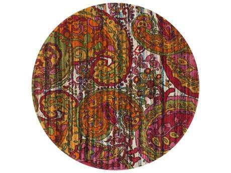Loloi Rugs Aria HAR05 3'0'' Round Green / Multi Area Rug