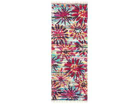 Loloi Rugs Aria HAR07 1'9'' X 5' Ivory / Berry Runner Rug
