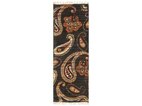 Loloi Rugs Aria HAR08 1'9'' X 5' Chocolate / Rust Runner Rug