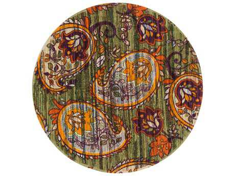 Loloi Rugs Aria HAR10 3'0'' Round Green / Orange Area Rug