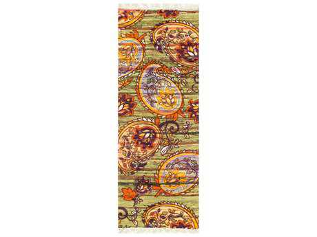 Loloi Rugs Aria HAR10 1'9'' X 5' Green / Orange Runner Rug