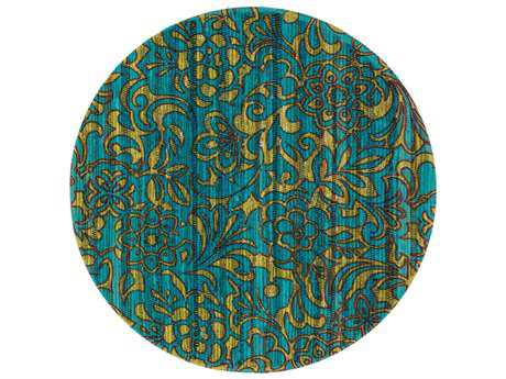 Loloi Rugs Aria HAR14 3'0'' Round Lime / Teal Area Rug