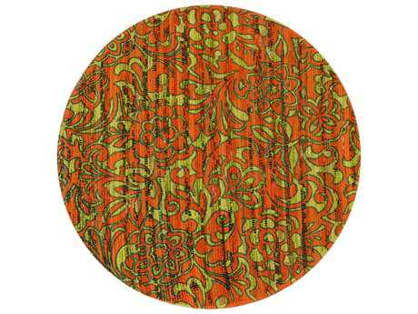 Loloi Rugs Aria HAR14 3'0'' Round Orange / Lime Area Rug