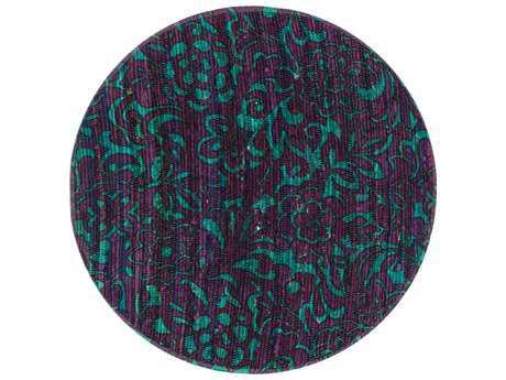 Loloi Rugs Aria HAR14 3'0'' Round Purple / Turquoise Area Rug