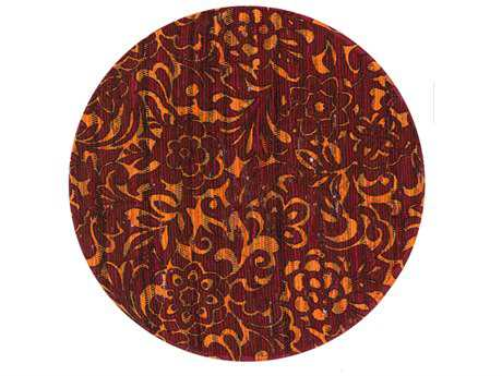 Loloi Rugs Aria HAR14 3'0'' Round Red / Orange Area Rug