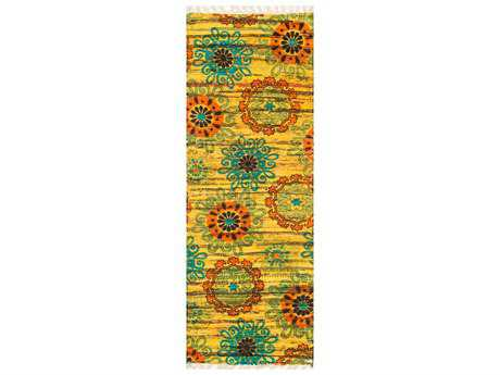 Loloi Rugs Aria HAR15 1'9'' X 5' Yellow / Orange Runner Rug
