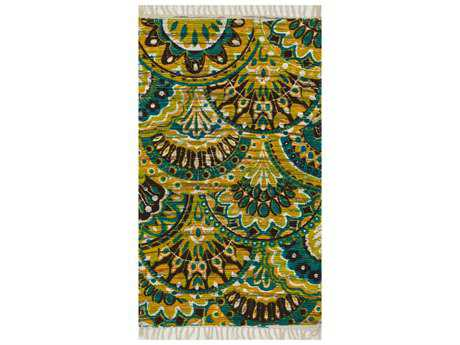 Loloi Rugs Aria HAR17 Rectangular Peacock / Yellow Area Rug